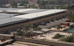 الصورة: الصورة: سقوط  صواريخ في محيط السفارة الأمريكية ببغداد