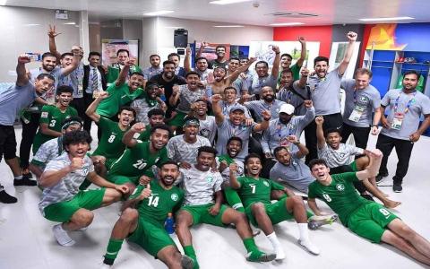الصورة: الصورة: 200 ألف ريال مكافأةً لكل لاعب في المنتخب السعودي الأولمبي