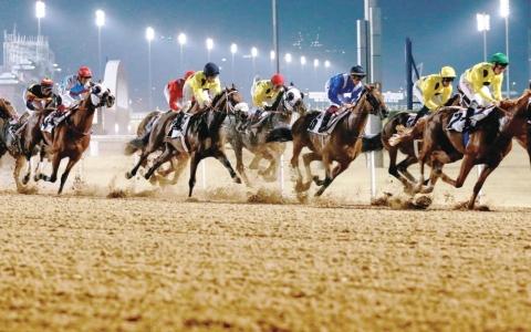 الصورة: الصورة: 72 خيلاً في الأمسية الرابعة لكرنفال كأس دبي العالمي
