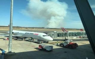 الصورة: الصورة: (فيديو) إغلاق مطار كانبيرا الأسترالي بسبب حرائق الغابات