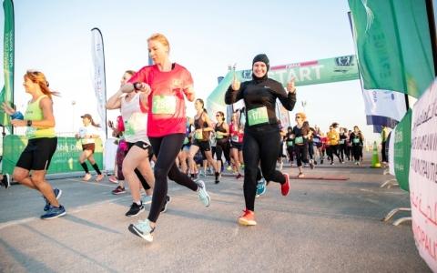 الصورة: الصورة: سباق الجري لأكاديمية فاطمة بنت مبارك اليوم