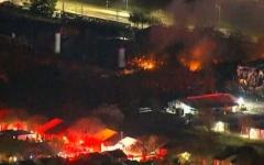 الصورة: الصورة: انفجار كبير يهز مدينة هيوستن الأمريكية