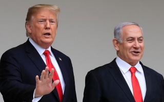الصورة: الصورة: نتانياهو وغانتس يتوجهان إلى واشنطن لبحث خطة السلام الأميركية
