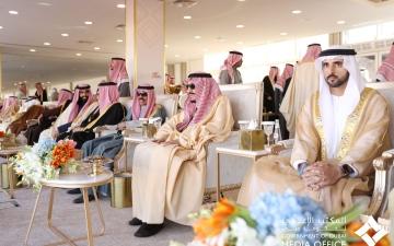 الصورة: الصورة: حمدان بن محمد يشهد ختام مهرجان الملك عبدالعزيز للإبل في نسخته الرابعة