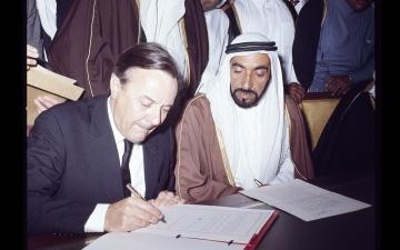 """الصورة: الصورة: """"صور في حوار"""" يروي تاريخ الإمارات وبريطانيا"""