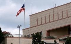 الصورة: الصورة: سقوط 3 صواريخ داخل حرم السفارة الأمريكية في بغداد