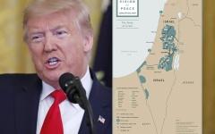 """الصورة: الصورة: أول صورة لخريطة دولة فلسطين بحسب """"صفقة القرن"""""""