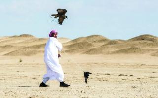 مكرمة حمدان بن محمد  تُسعد «فخر الأجيال» للصيد بالصقور