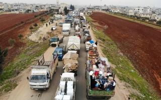 الصورة: الصورة: الجيش السوري يستعيد معرة النعمان من «النصرة»
