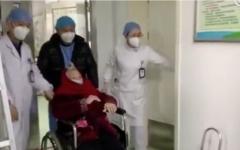 الصورة: الصورة: خبر سار.. شفاء مسنة صينية من فيروس كورونا