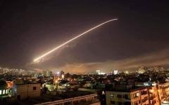 الصورة: الصورة: بالفيديو.. الدفاعات الجويّة السورية تصدّ عدواناً إسرائيلياً على دمشق