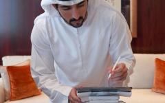 الصورة: الصورة: حمدان بن محمد يعتمد وثيقة مبادئ السلوك الوظيفي وأخلاقيات الوظيفة العامة في حكومة دبي