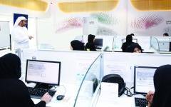 الصورة: الصورة: 330 مواطناً ومواطنةً يعملون عن بعد في القطاع الخاص