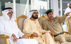 """الصورة: الصورة: محمد بن راشد وسيف بن زايد يشهدان جانباً من """"تحدي الإمارات للفرق التكتيكية"""""""
