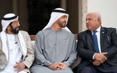 الصورة: الصورة: محمد بن زايد يستقبل رئيس وزراء جزر فيجي