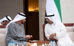 الصورة: الصورة: محمد بن زايد يستقبل أمين عام مجلس التعاون الخليجي
