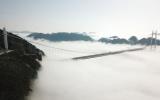 الصورة: الصورة: بالفيديو.. جسر «إيزهاي» المعلق في الصين يكتسي وشاح الثلج الأبيض