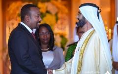 الصورة: الصورة: محمد بن راشد يستقبل رئيس وزراء إثيوبيا