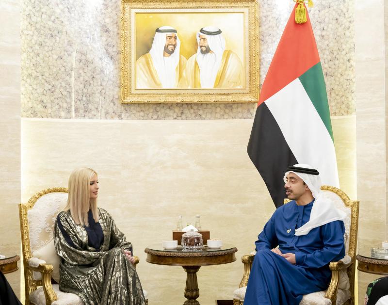 عبدالله بن زايد يستقبل إيفانكا ترامب في أبوظبي عبر الإمارات أخبار وتقارير البيان