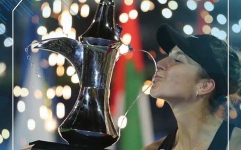 """الصورة: الصورة: 5 نجمات يرفعن التحدي في """"تنس دبي"""""""