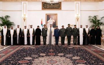 الصورة: الصورة: أمام محمد بن زايد..عدد من أعضاء القضاء و النيابة العسكرية يؤدون اليمين القانونية