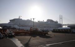 الصورة: الصورة: السماح لركاب السفينة دايموند برينسيس بمغادرة الحجر الصحي