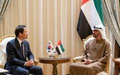 الصورة: الصورة: محمد بن زايد يستقبل مبعوث الرئيس الكوري الجنوبي