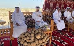 """الصورة: الصورة: بالفيديو..رئيس الدولة بصحبة محمد بن زايد والشيوخ في جولة لغابة محمية """"غناظة"""""""