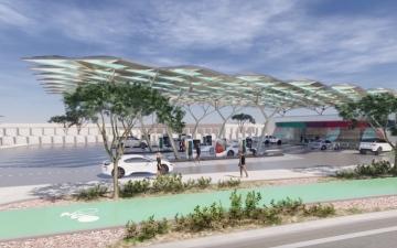 الصورة: الصورة: «إينوك» تنجز %40  من أعمال تشييد محطة الخدمة المستقبلية