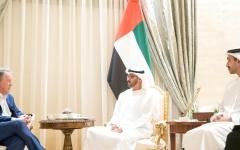 الصورة: الصورة: محمد بن زايد: نهج الإمارات ثابت في التضامن الإنساني بأوقات المحن والأزمات