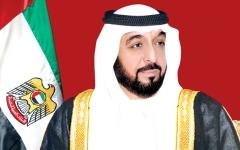 الصورة: الصورة: خليفة ومحمد بن راشد ومحمد بن زايد والحكام يعزون ملك البحرين في وفاة عيسى آل خليفة