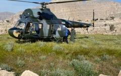 الصورة: الصورة: شرطة رأس الخيمة تنقذ مواطنا تعرض لإعياء شديد في منطقة جبلية
