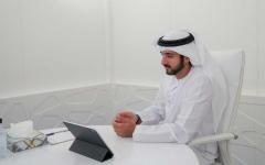 الصورة: الصورة: برئاسة حمدان بن محمد المجلس التنفيذي لإمارة دبي يعقد اجتماعه عن بُعد