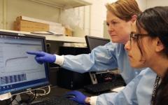 الصورة: الصورة: مصرية تطور اختبارا لفحص الفيروسات التاجية في مختبر أمريكي