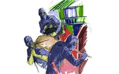 الصورة: الصورة: عصابة آسيوية تسرق شركة صرافة بأسلوب أفلام «الأكشن»