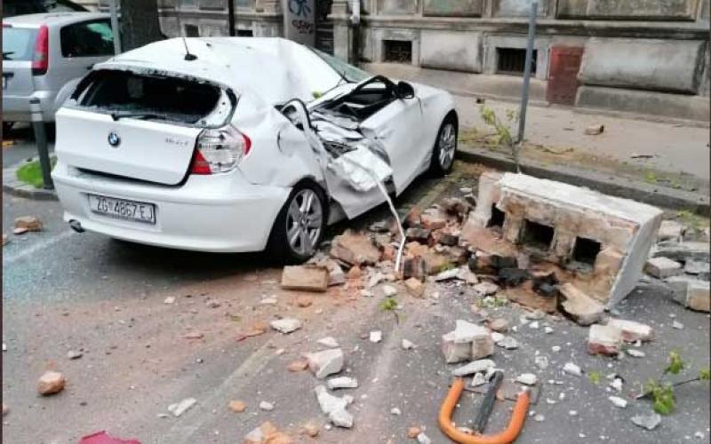 الصورة: الصورة: شاهد.. زلزال يهز زغرب ويتسبب بأضرار مادية كبيرة