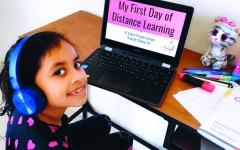 الصورة: الصورة: الطلبة يبدؤون «التعلم عن بُعد» بمنصات ذكية وتقنيـات رقمية