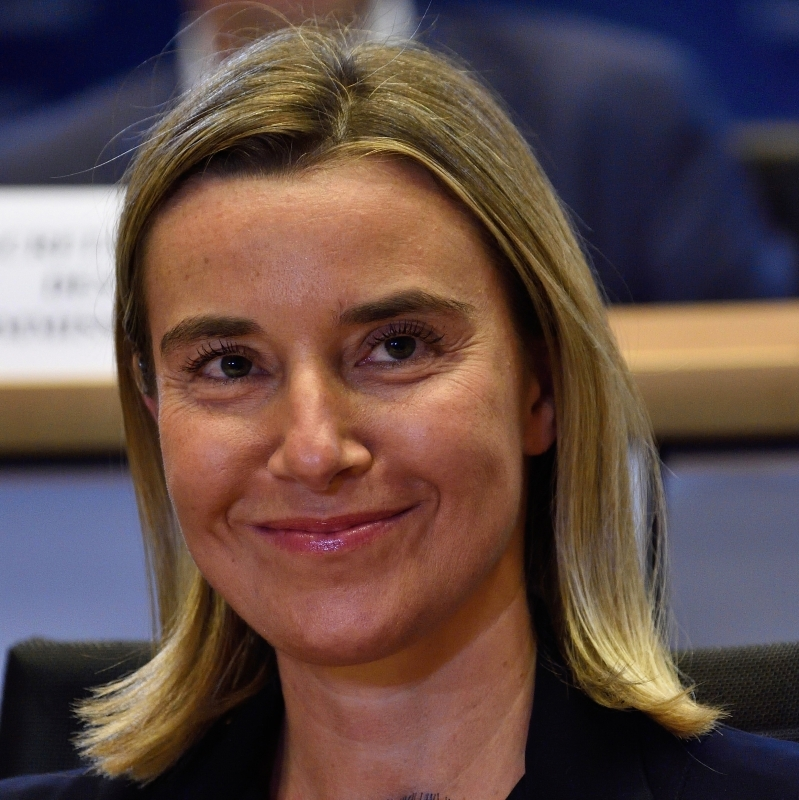 الصورة : فيديريكا موغيريني  - الممثل الأعلى للشؤون الخارجية والسياسة الأمنية في الاتحاد الأوروبي.