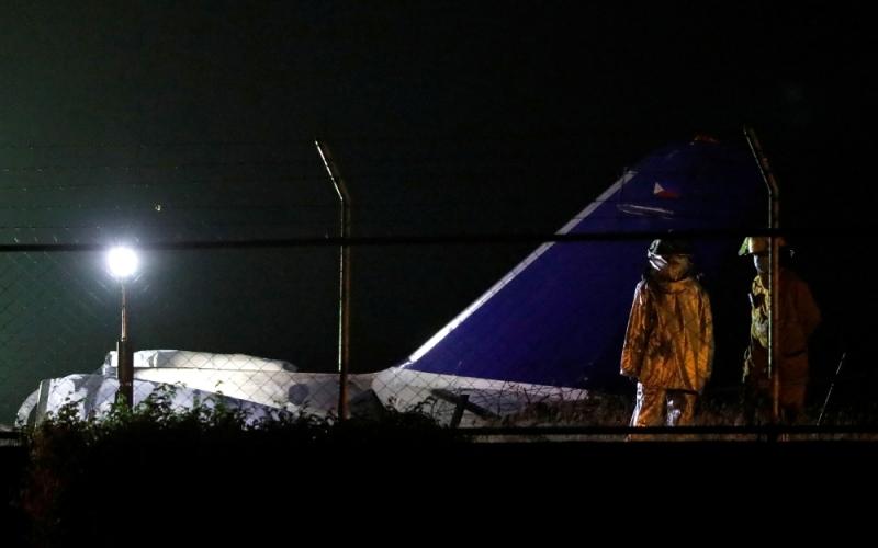الصورة: الصورة: 8 قتلى بتحطم طائرة إسعاف في الفلبين