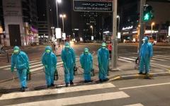 الصورة: الصورة: 1098من القوى العاملة تشارك في أعمال التعقيم بأبوظبي