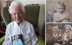 الصورة: الصورة: متقاعدة عمرها 110 أعوام تدعو للضحك بمواجهة كورونا