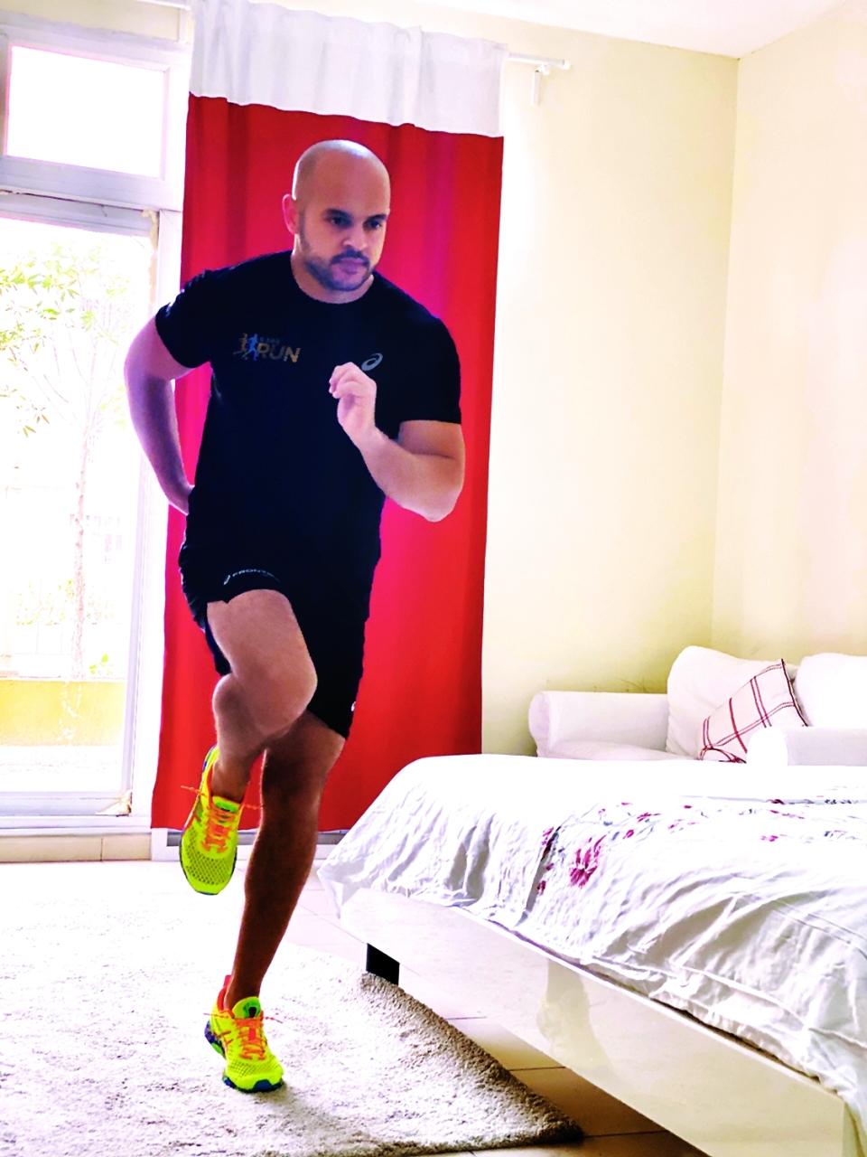 الصورة : الجري في المنزل مبادرة جديدة يطلقها مجلس دبي الرياضي     من المصدر