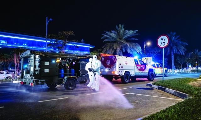 دبي تمدّد التعقيم على مدار 24 ساعة لمدة أسبوعين وتدابير مشدّدة لتقييد الحركة - عبر الإمارات - أخبار وتقارير - البيان