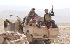 الصورة: الصورة: صحاري الجوف تبتلع أفراد الحوثيين وآلياتهم