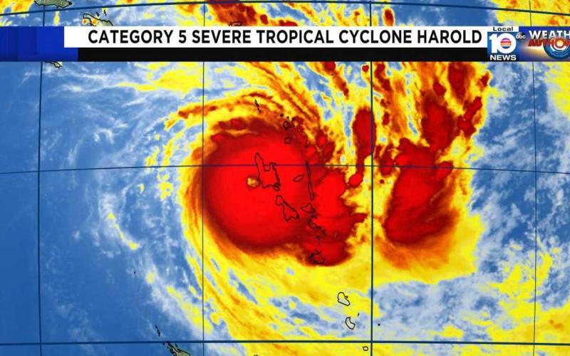 الصورة: الصورة: بعد أن دمّر جزر سليمان وأرخبيل فانواتو.. الإعصار هارولد يصل فيجي