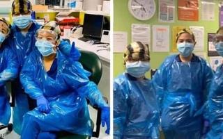 الصورة: الصورة: أكياس القمامة لم تقي ممرضات من كورونا