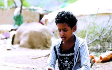 الصورة: الصورة: ساهر..  نازح يُمنّي النفس بالسلام في اليمن