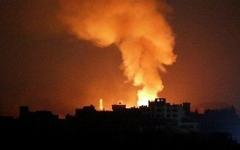 الصورة: الصورة: الدفاعات السورية تتصدى لعدوان إسرائيلي جديد