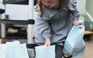 الصورة: الصورة: الأميرة شارلوت الصغيرة توزّع المعونات على معوزي بريطانيا