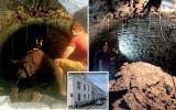 الصورة: الصورة: بقعة على حائط منزل بريطاني تكشف سر قبو عمره 120 عاماً